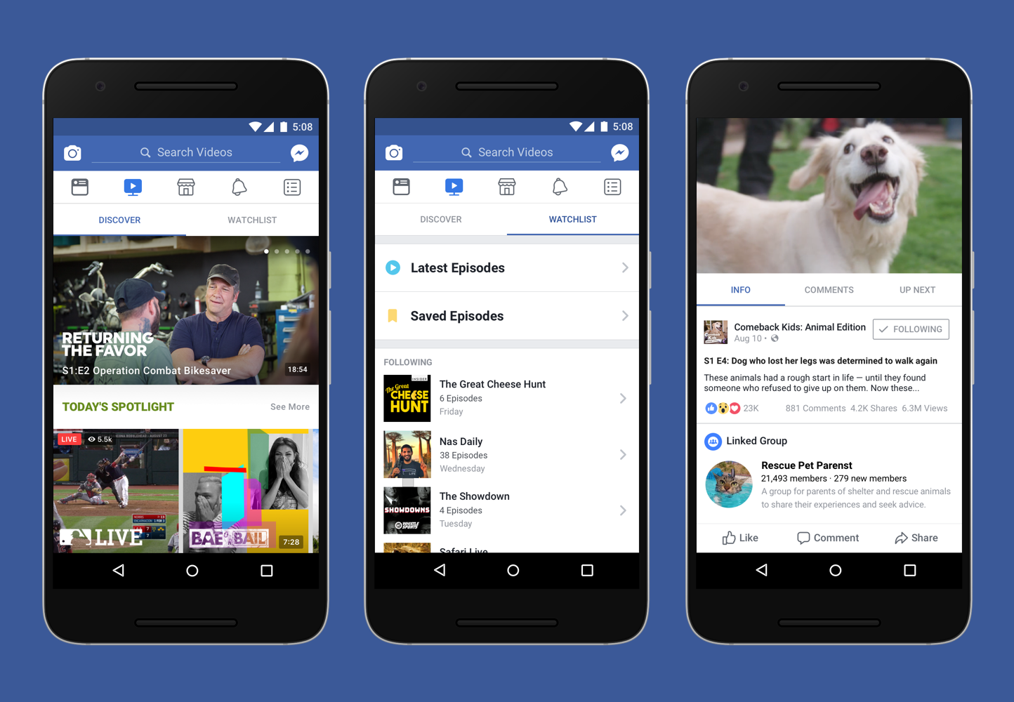 facebook debuts shows in watch