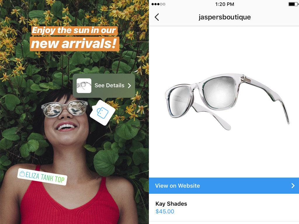 instagram shopping tags ad